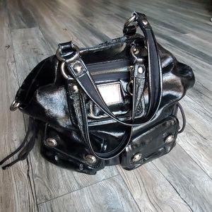 COACH Poppy Black Patent Leather Satchel